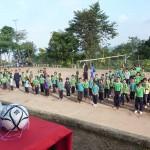Sport à l'école de Phat Phi Phat. Matériels fournis par l'association le monde des Enfants Hmong